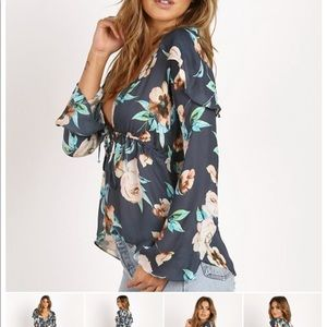 Stone Cold Fox Schiffer Top Floral Cosmo